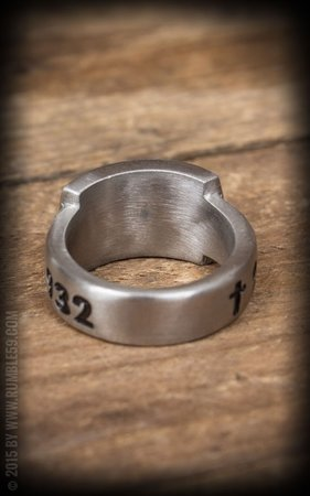 Stainless Steel Ring Man in Black