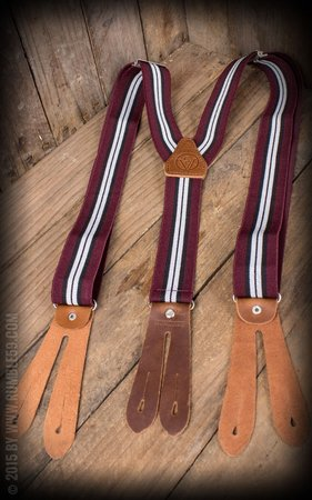 Suspenders Colour combination bordeaux