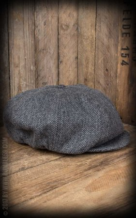 Slugger Cap - Herringbone grey/black