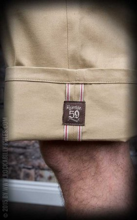 Chino Shorts California | Selvage - black or beige