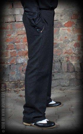 Vintage Loose Fit Pants Sacramento - striped black/grey