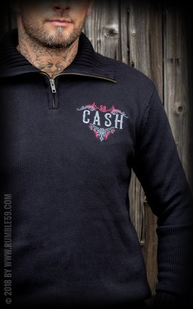 Racing Sweater Man in Black