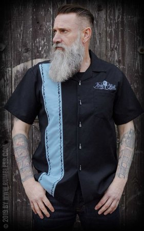 Lounge Shirt Sound of Rock'n'Roll - light blue