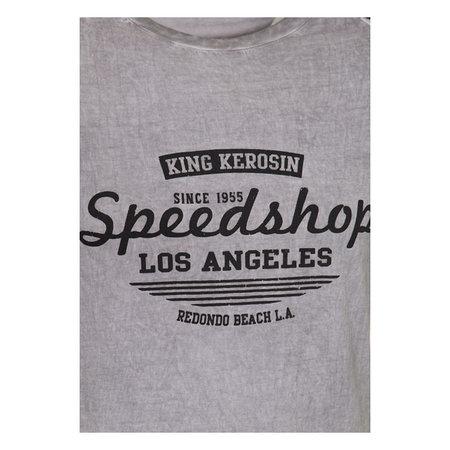 KING KEROSIN SPEEDSHOP RAGLAN T-SHIRT GREY