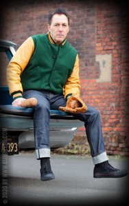 Baseball Jacket - green/mustard
