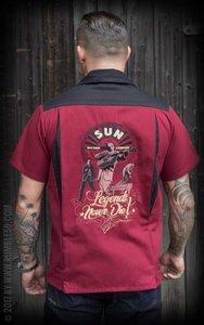 Bowling Shirt SUN, Legends never die