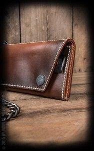 "Leather Wallet ""Comb"" - sunburst handmade"