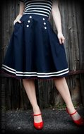 Rumble59 Ladies - Petticoat Skirt - Ahoi Sailor!