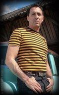Striped Shirt - mustard/ black