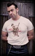 T-Shirt Rockabilly Rebel - offwhite